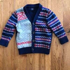 Toddler boys sweater cardigan